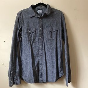 Gray long sleeve button down